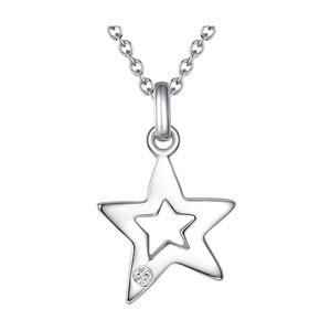 Stříbrný náhrdelník s pravým diamantem Tess Diamonds Heleen, délka45cm