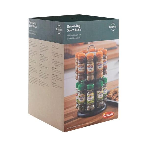 Set 16 recipiente condimente cu suport Premier Housewares