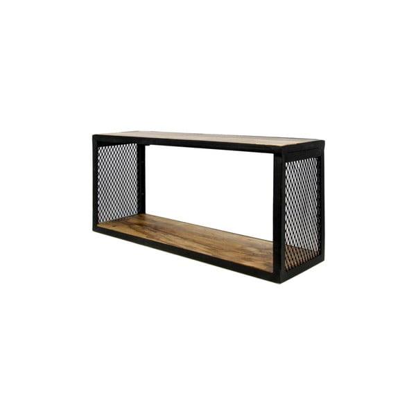 Nástenná polica s detailom z mangového dreva HSM collection Brixton, 64×30 cm