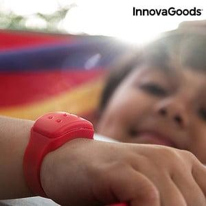 Červený repelentní náramek proti komárům s vůní citronely InnovaGoods