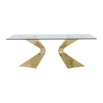 Masă cu picioare aurii Kare Design Gloria