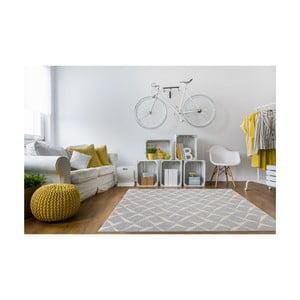 Šedý vysoce odolný koberec vhodný do exteriéru Webtappeti Rete,194x290cm