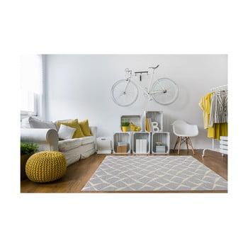 Covor foarte rezistent Floorita Rete Silver, 155 x 230 cm de la Floorita