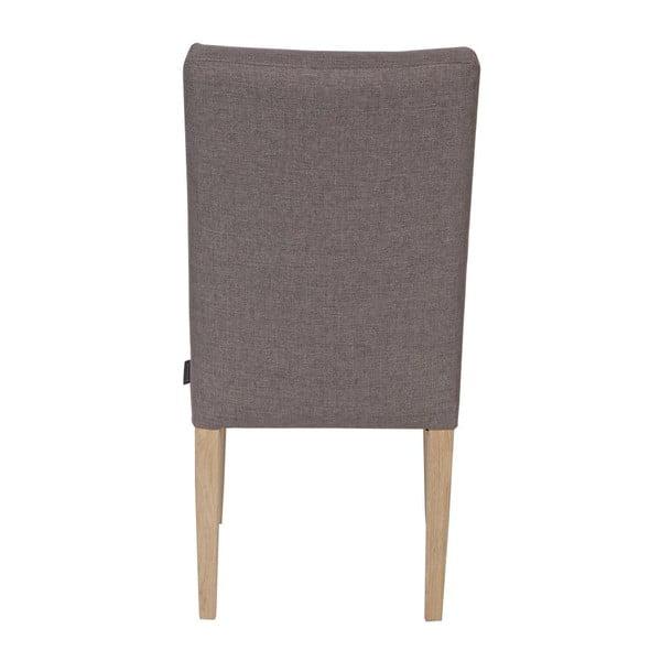 Sada 2 dřevěných židlí Tijmen Taupe Oak