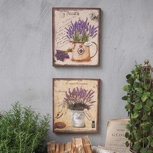 Nástěnná dekorace Lavenders, 2 ks