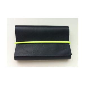 Peněženka Cobalt Blue s šedou a neonově žlutou gumičkou