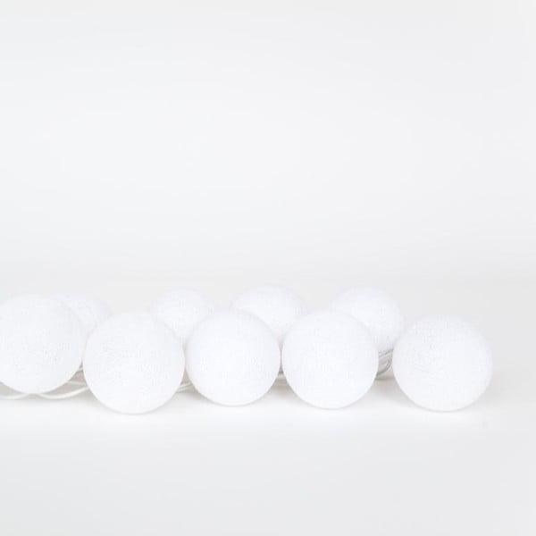 Světelný řetěz Snowball, 20 kuliček