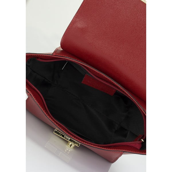 Červená kožená kabelka Lisa Minardi Alice