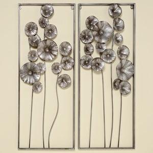 Sada 2 železných nástěnných dekorací Boltze Flower
