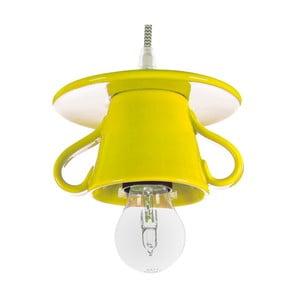 Žluté keramické stropní svítidlo Creative Lightings Coffee Time Darling