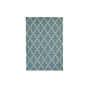 Ručně tkaný koberec Light Blue Barok Kilim, 155x242 cm