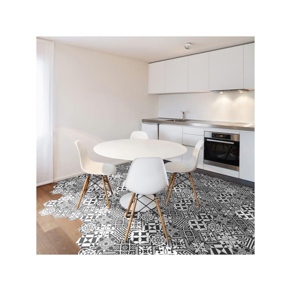 Sada 10 samolepek na podlahu Ambiance Hexagons Ginola, 20 x 18 cm