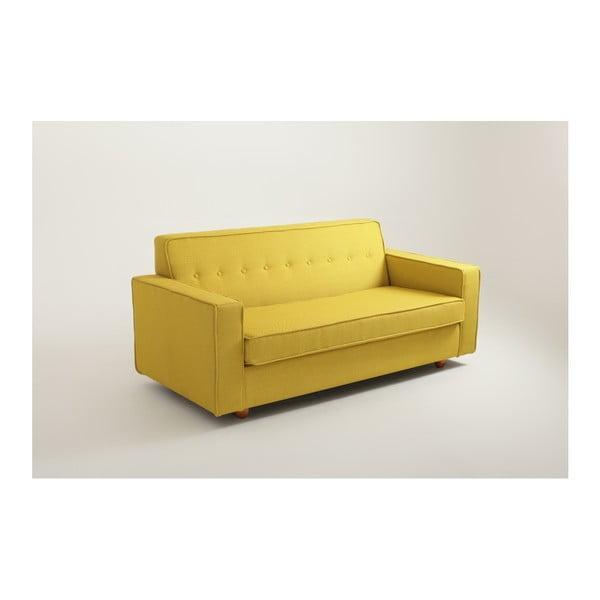 Žlutá rozkládací dvoumístná pohovka Custom Form  Zugo