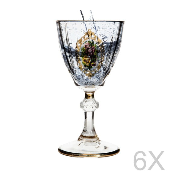 Sada 6 sklenic Mezzo Diamond Vintage, 50 ml