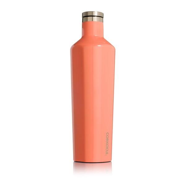 Termos din inox Corkcicle Canteen, 740 ml, portocaliu