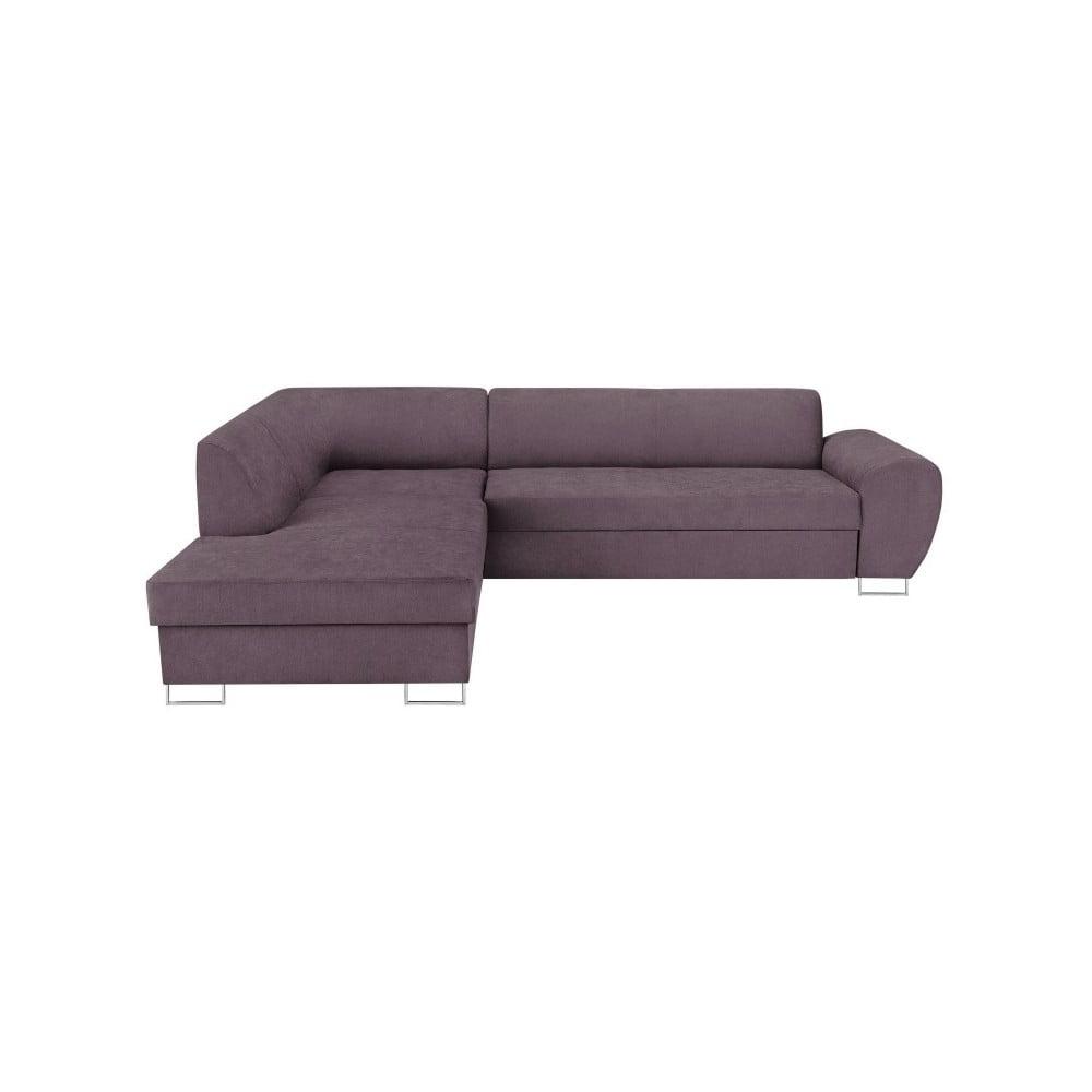 Fialová rohová rozkládací pohovka s úložným prostorem Kooko Home XL Left Corner Sofa
