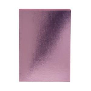 Růžový zápisník A5 GO Stationery Glam