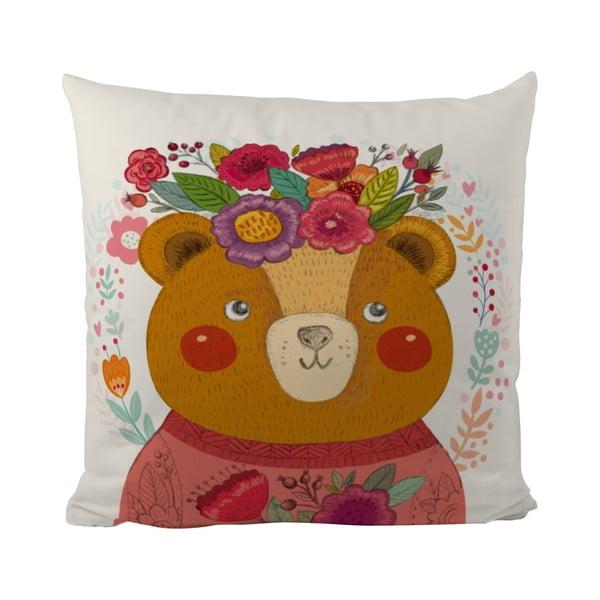 Polštář Flower Bear, 50x50 cm