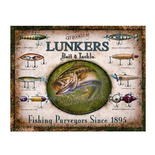 Plechová cedule Lunkers