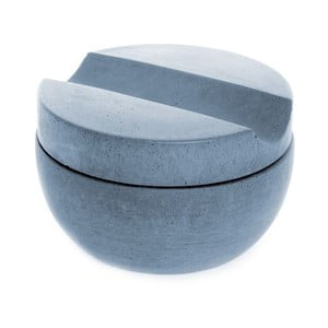 Betonová miska na holení s mýdlem s vůní cedru, modrá