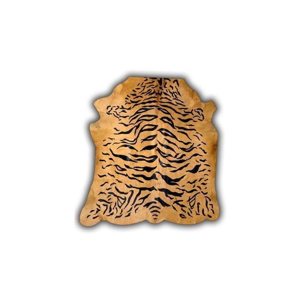 Kožená předložka Normand Cow Tiger, 170x190 cm