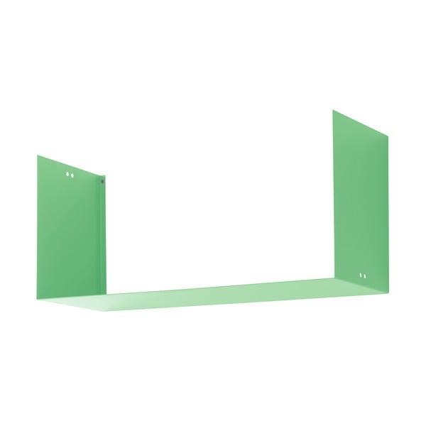 Nástěnná police Geometric Three, zelená