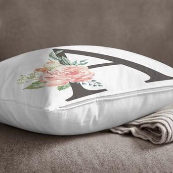 Față de pernă Minimalist Cushion Covers Floral Alphabet A, 45 x 45 cm imagine