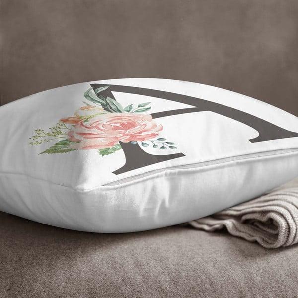 Față de pernă Minimalist Cushion Covers Floral Alphabet A, 45 x 45 cm