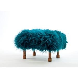 Stolička z ovčí kůže Delyth Teal