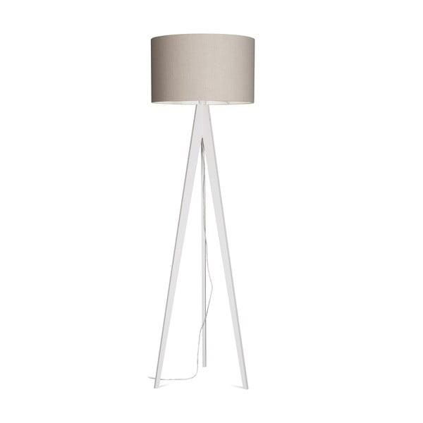 Stojací lampa Artist Grey Linnen/White, 125x42 cm