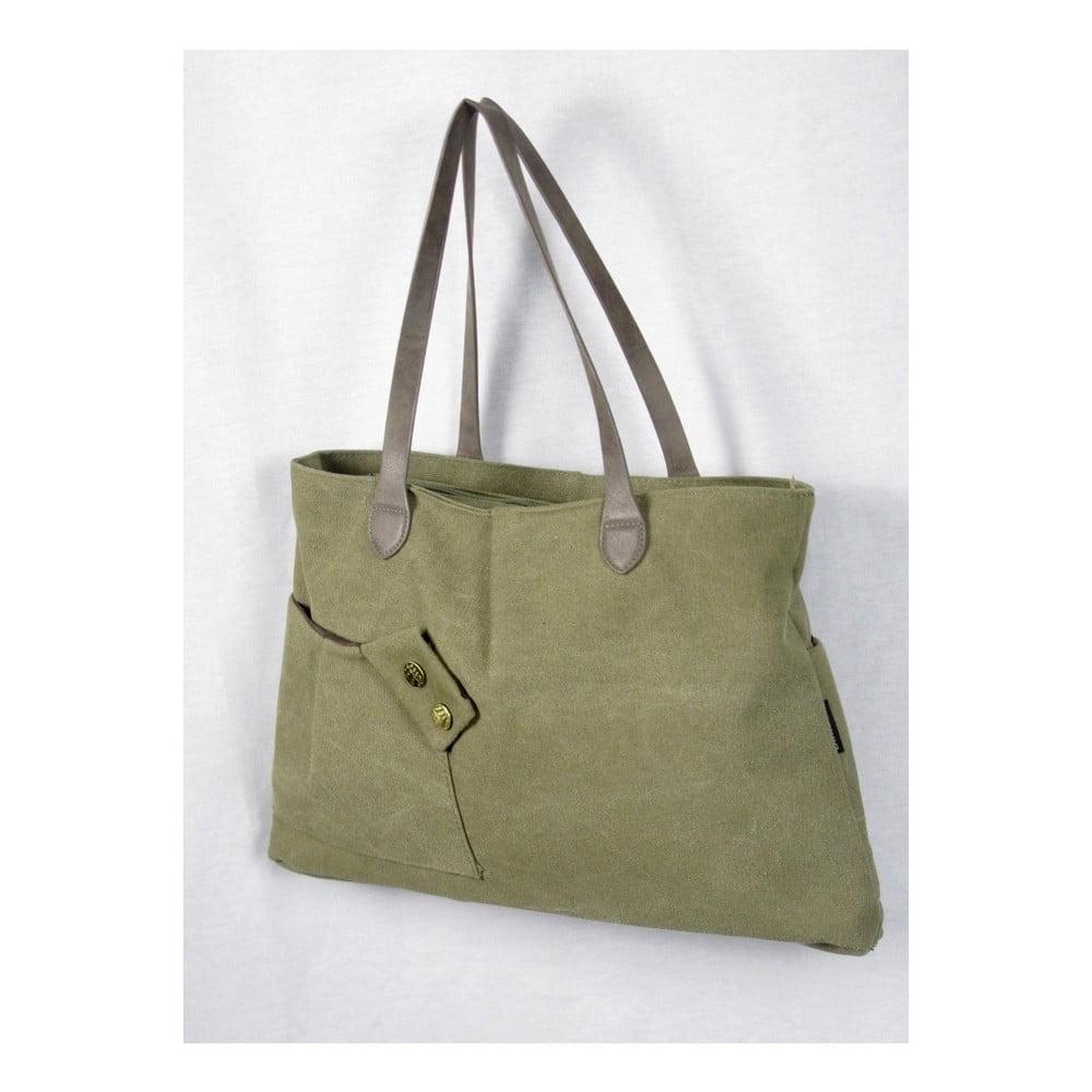 Khaki zelená plátěná taška Sorela Malika