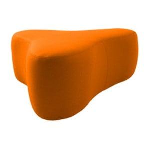 Oranžový puf Softline Chat Valencia Orange, délka 90 cm