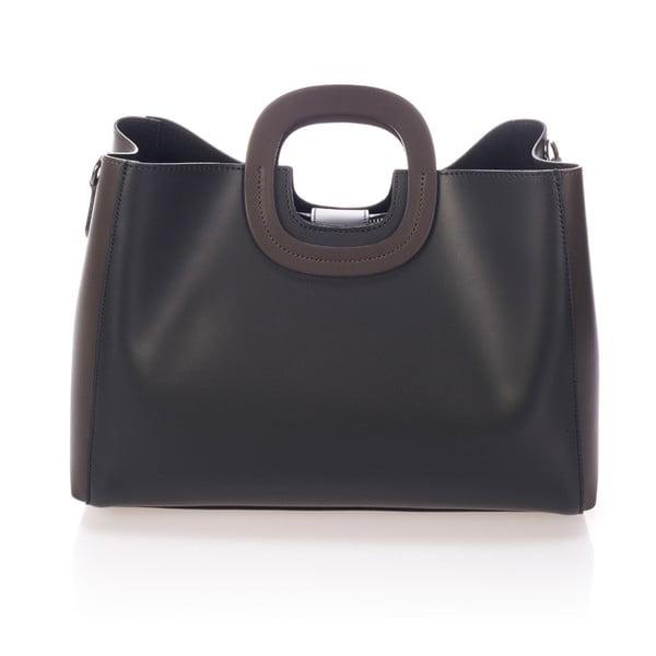 Černá kožená kabelka Markese Sidony