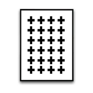 Plakát v dřevěném rámu Cross, 38x28 cm
