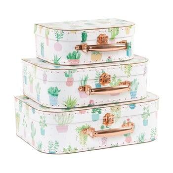 Set 3 valize Sass & Belle Pastel Cactus de la Sass & Belle