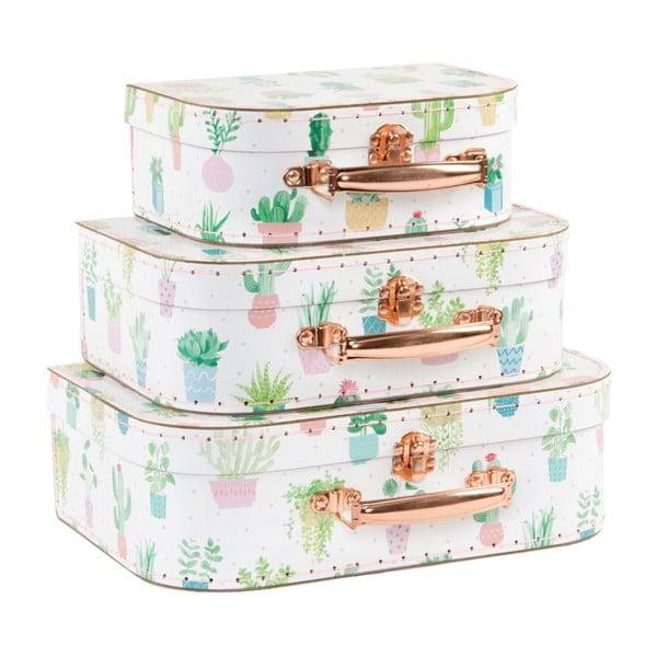 Set 3 valize Sass & Belle Pastel Cactus