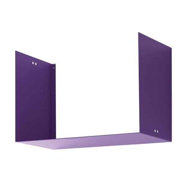 Nástěnná police Geometric Two, fialová