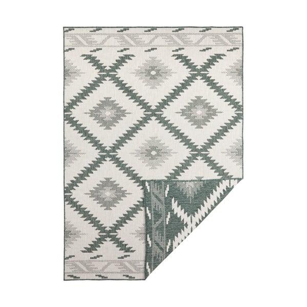 Zielono-kremowy dywan odpowiedni na zewnątrz Bougari Malibu, 290x200 cm