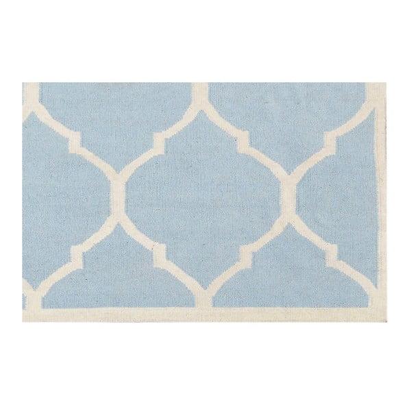 Světle modrý vlněný koberec Bakero Lara, 120x180 cm
