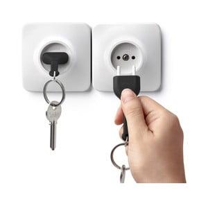 Věšáček na klíče s černou klíčenkou Qualy&CO Unplug