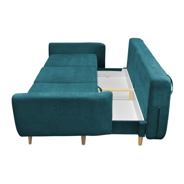 Canapea extensibilă Mazzini Sofas Rose, turcoaz