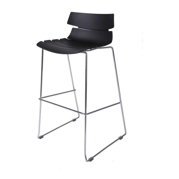 Černá barová židle D2 Techno