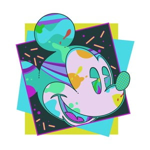 Obraz Pyramid International Mickey Mouse Miami, 40 x 40 cm