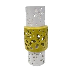 Žlutobílá porcelánová váza Mauro Ferretti Ring