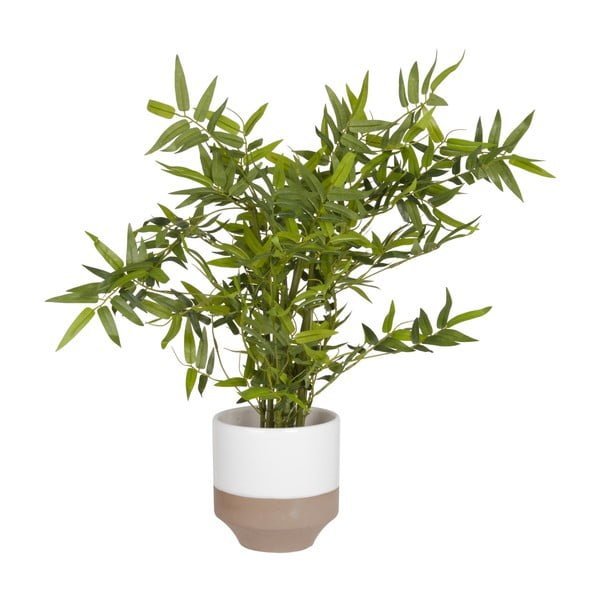 Keramický květináč Present Time Native White, velký