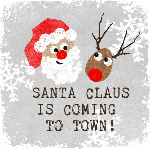 Balenie 10 papierových obrúskov s vianočným motívom PPD Santa Claus
