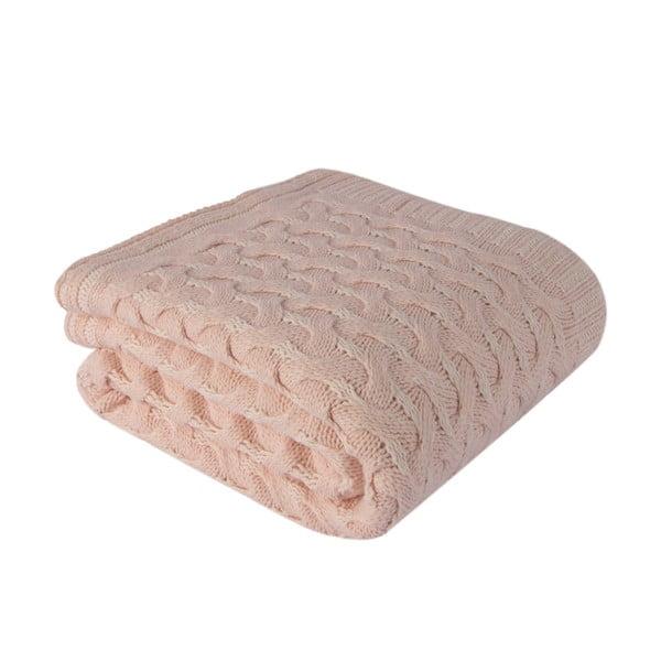 Růžová deka Homemania Totu ,170x130cm
