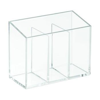 Organizator cu 3 compartimente iDesign Clarity, 13x6,5cm