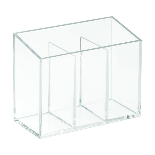 Organizer z 3 przegródkami iDesign Clarity, 13x6,5 cm