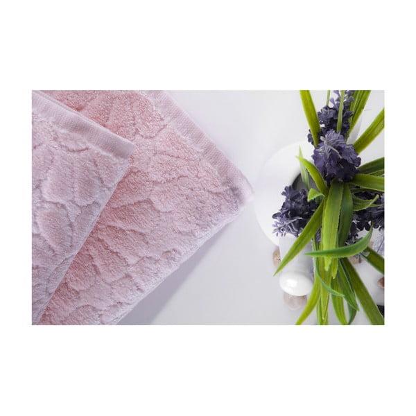 Set dvou ručníků Samba Pink, 70x140 a 50x90 cm
